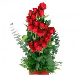 Cesta de Flores Mix Liliums Rosas Cumpleaños