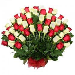 Cesta de Flores Cumpleaños Mix Gerberas y Rosas + Globo