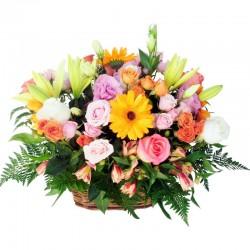 Florero de Rosas Circus Feliz Cumpleaños Globo Feliz Cumpleaños