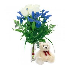 Ramo de Rosas Blancas Limon 24 Rosas