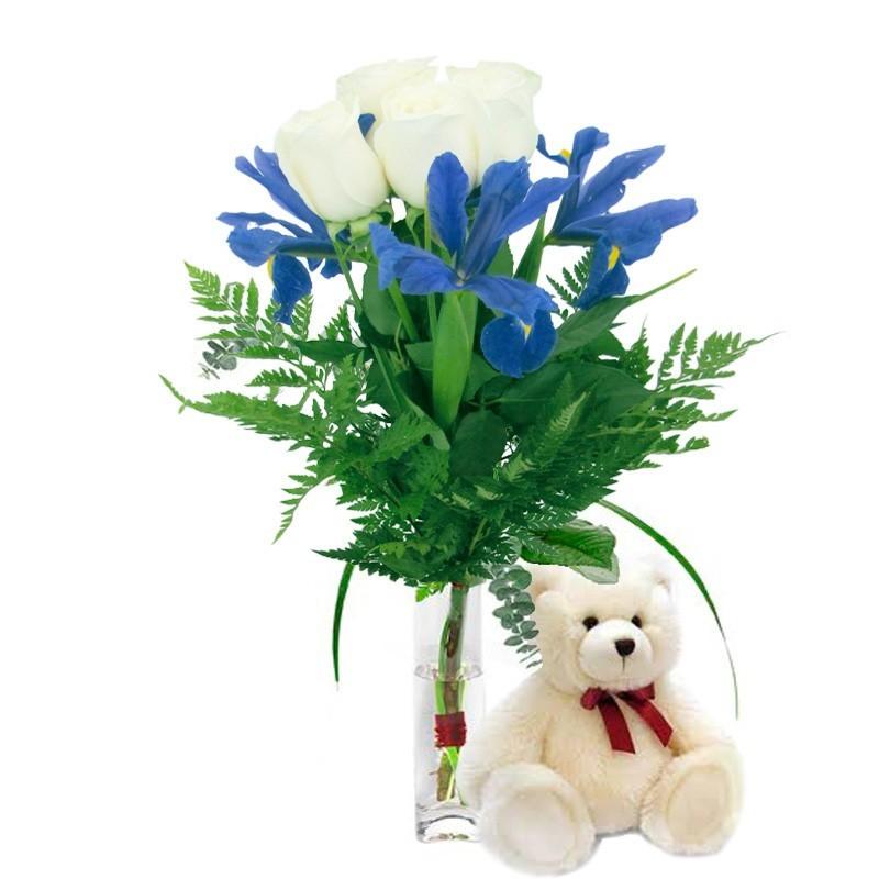 Ramo de Rosas Mix Rojo Naranja