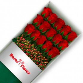 Caja de Rosas Rojas 15 Rosas