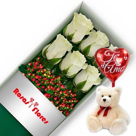 Cajas de 12 Rosas Rojas