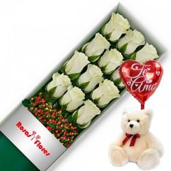 Caja de Rosas Rojas 18 Rosas