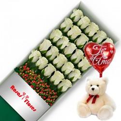 Caja de Rosas Rojas 20 Rosas