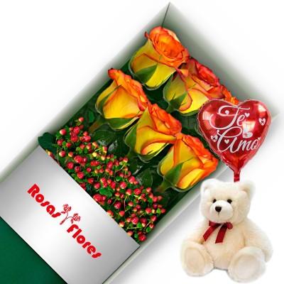 Caja de Rosas Blanca 1 Rosa