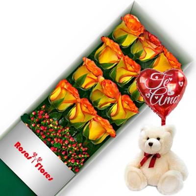Caja de Rosas Blancas 3 Rosas
