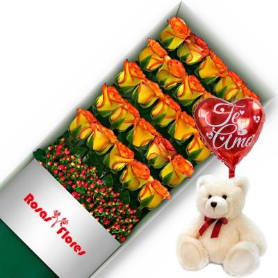 Caja de Rosas Blancas 6 Rosas