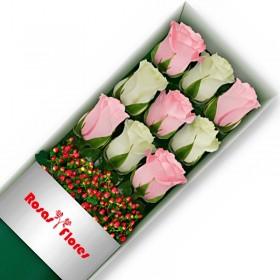 Caja de Rosas Blancas 15 Rosas