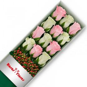 Caja de Rosas Blancas 18 Rosas