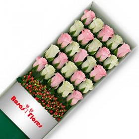 Caja de Rosas Blancas 30 Rosas