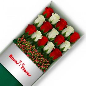 Caja de Rosas Rosadas 3 Rosas