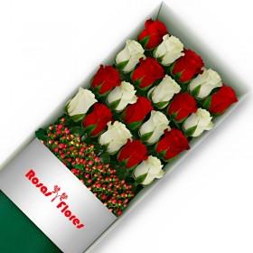Caja de Rosas Rosadas 9 Rosas