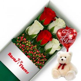 Caja de Rosas Rosadas 24 Rosas