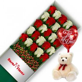 Caja de Rosas Rosadas 30 Rosas