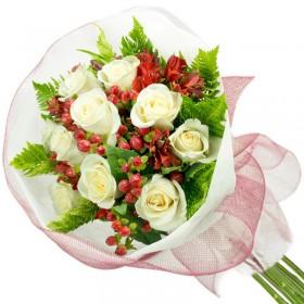 Caja de Rosas Rosadas 24 Rosas + Globo y Peluche