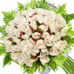Caja de Rosas Damasco 6 Rosas