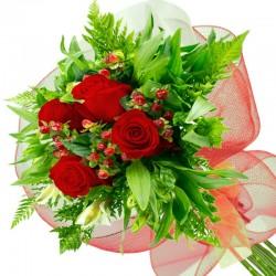 Caja de Rosas Damasco 18 Rosas