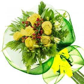 Caja de Rosas Color Mix Rojas Blancas 9 Rosas