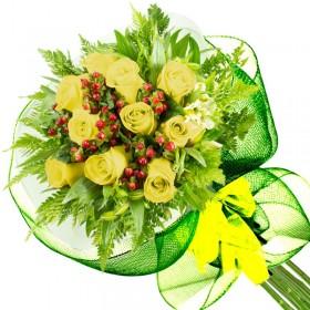 Caja de Rosas Color Mix Rojas Blancas 12 Rosas