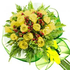 Caja de Rosas Color Mix Rojas Blancas 15 Rosas