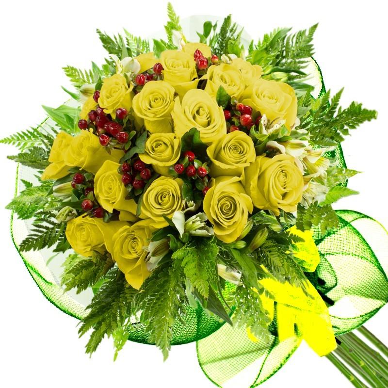 Caja de Rosas Color Mix Rojas Blancas 18 Rosas