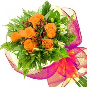 Caja de Rosas Color Mix Rojas Blancas 20 Rosas