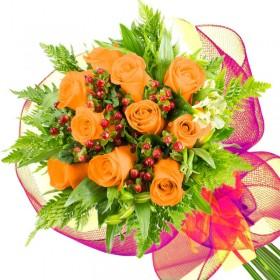 Caja de Rosas Color Mix Rojas Blancas 25 Rosas