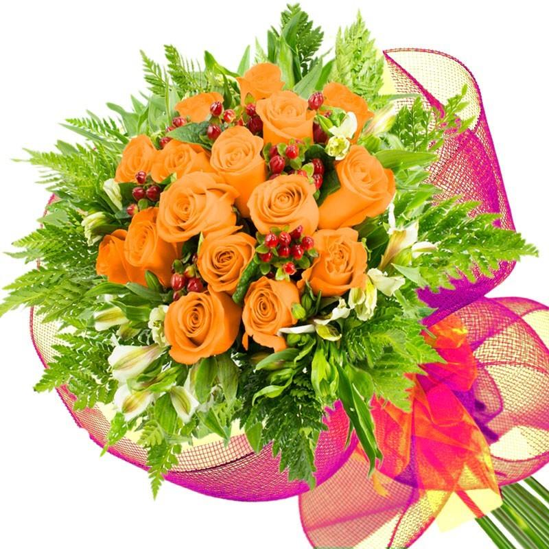 Caja de Rosas Color Mix Rojas Blancas 6 Rosas + Globo y Peluche